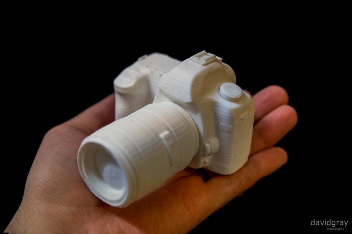 A 3D printed Canon EOS 5D MK II