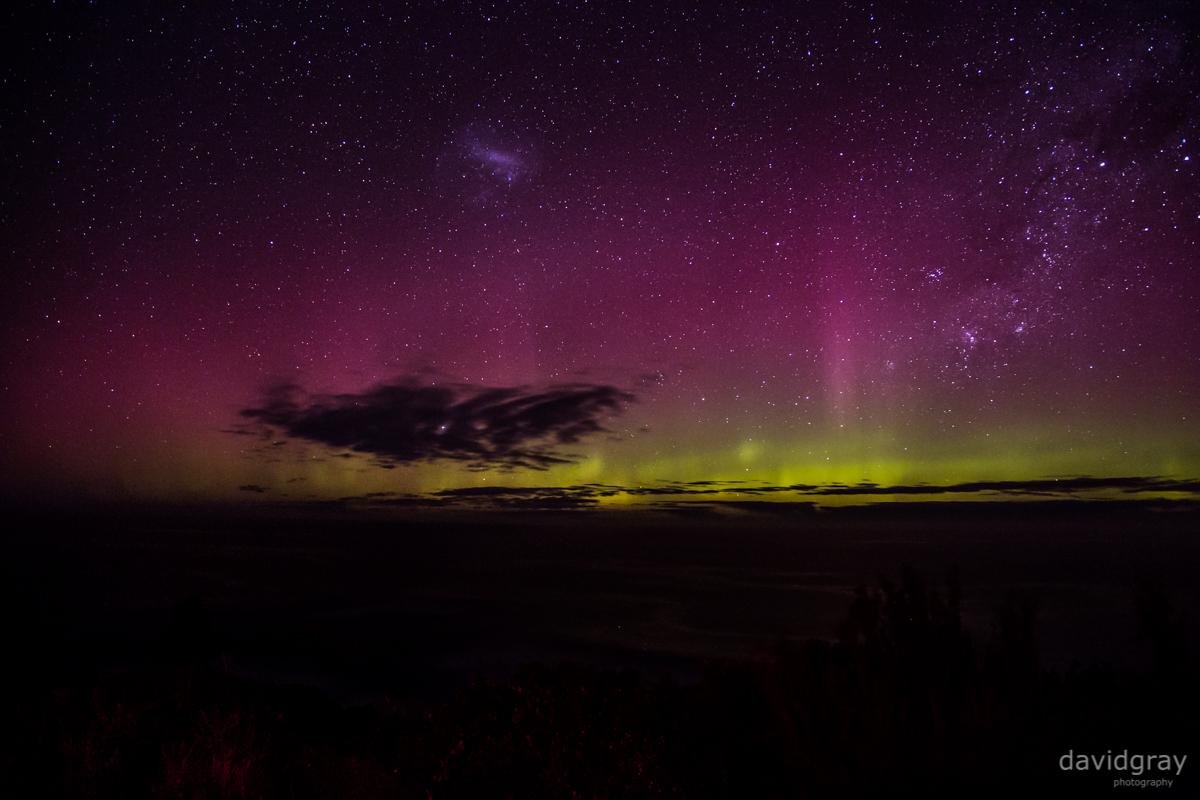 Aurora Australis, viewed from Inverloch, Victoria, Australia